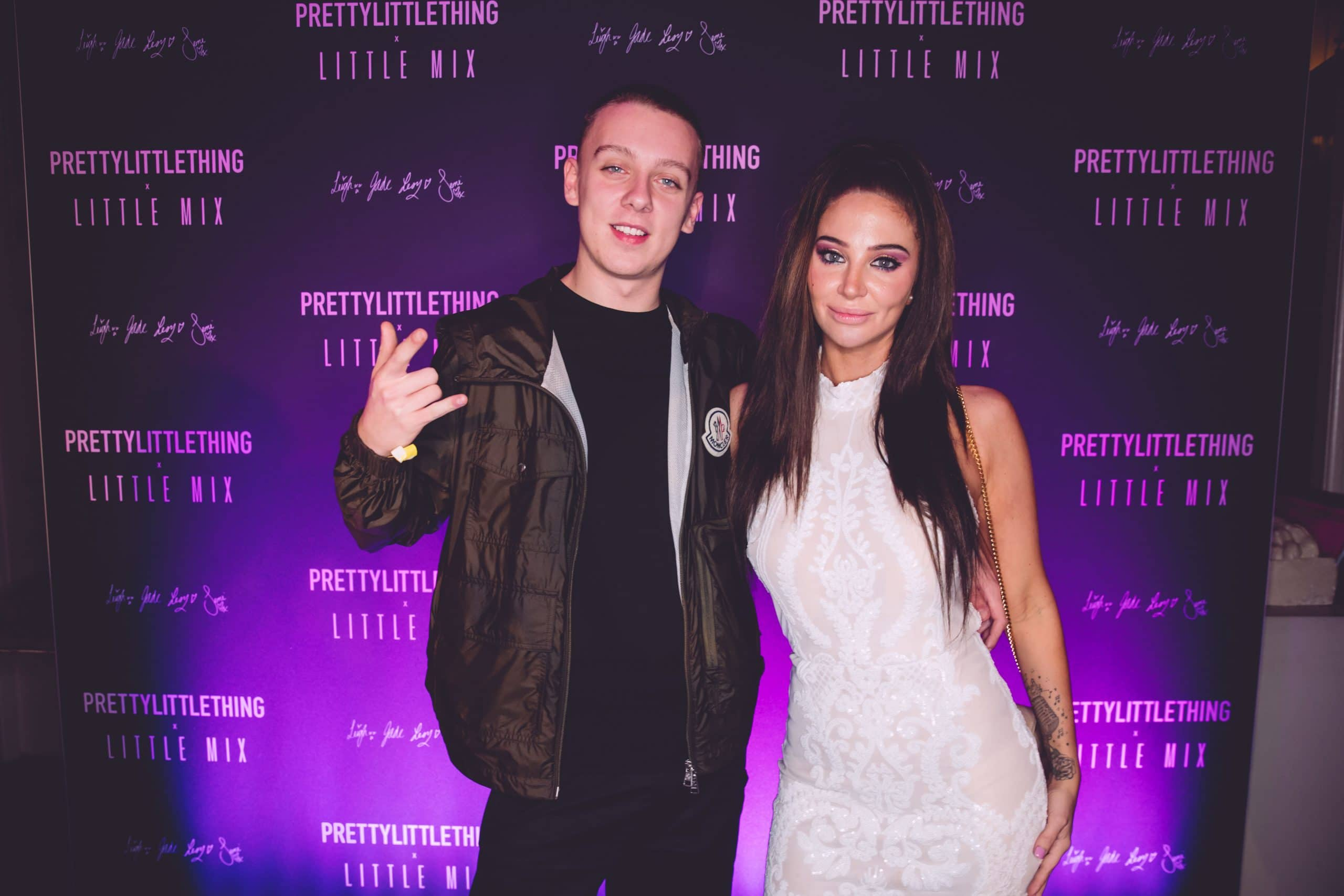 Aitch & Tulisa at the Little Mix & Pretty Little Thing launch party