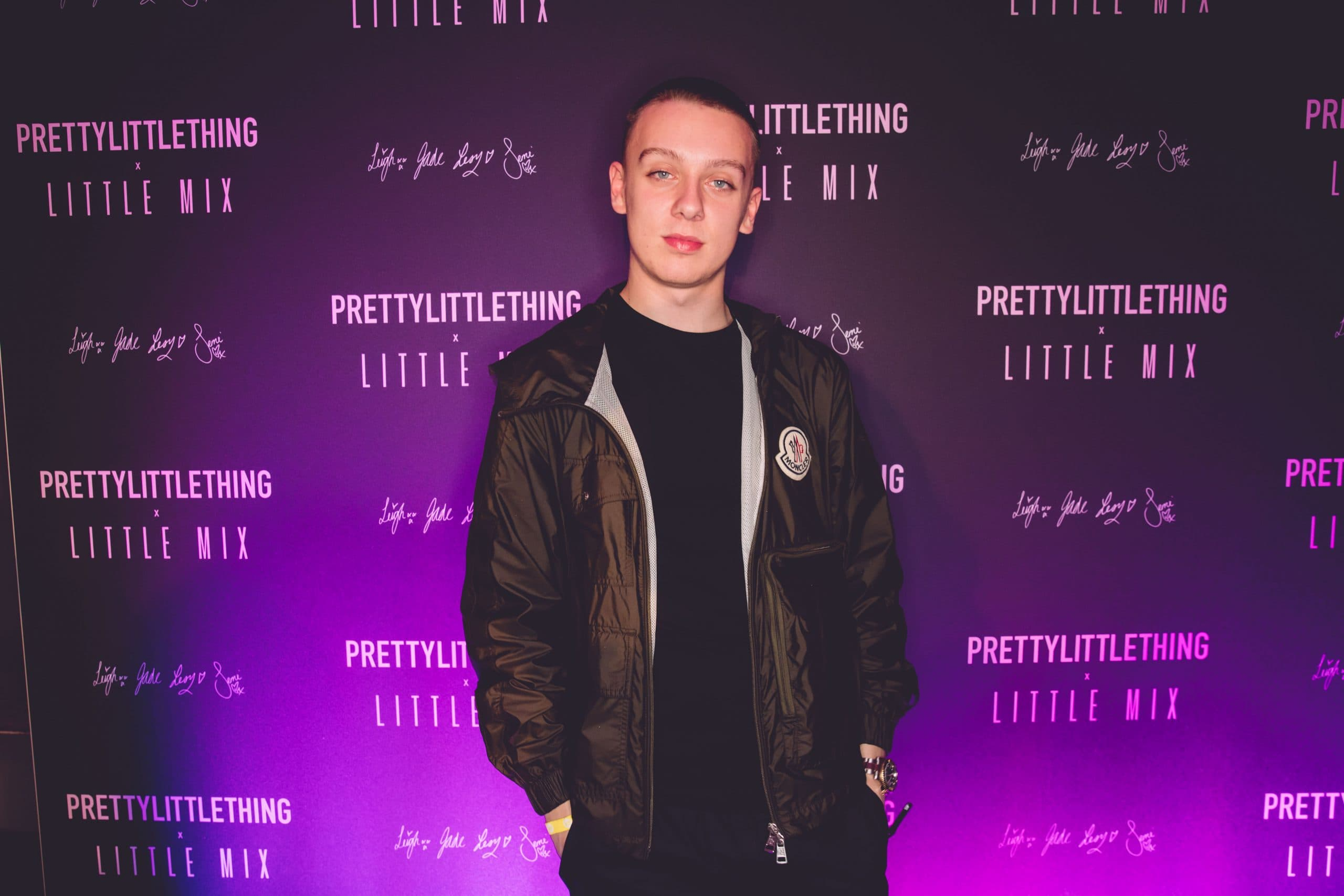 Aitch at Little Mix & Pretty Little Thing launch party