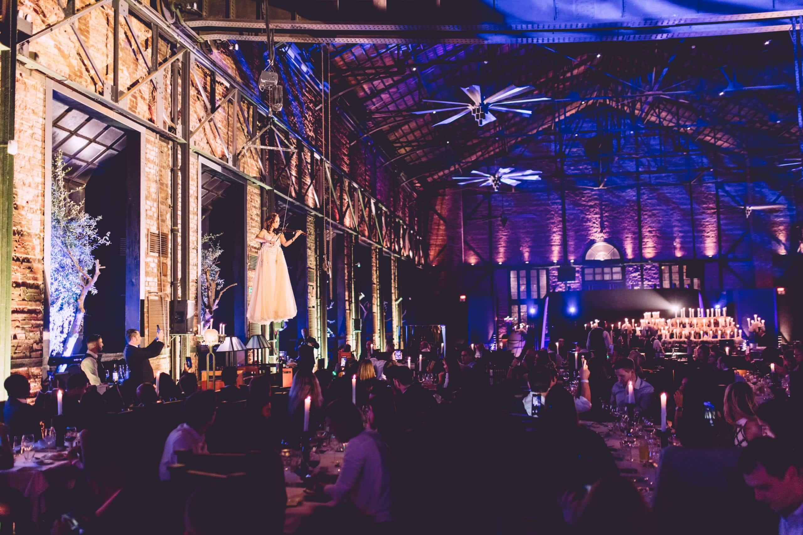 Corporate christmas party photography