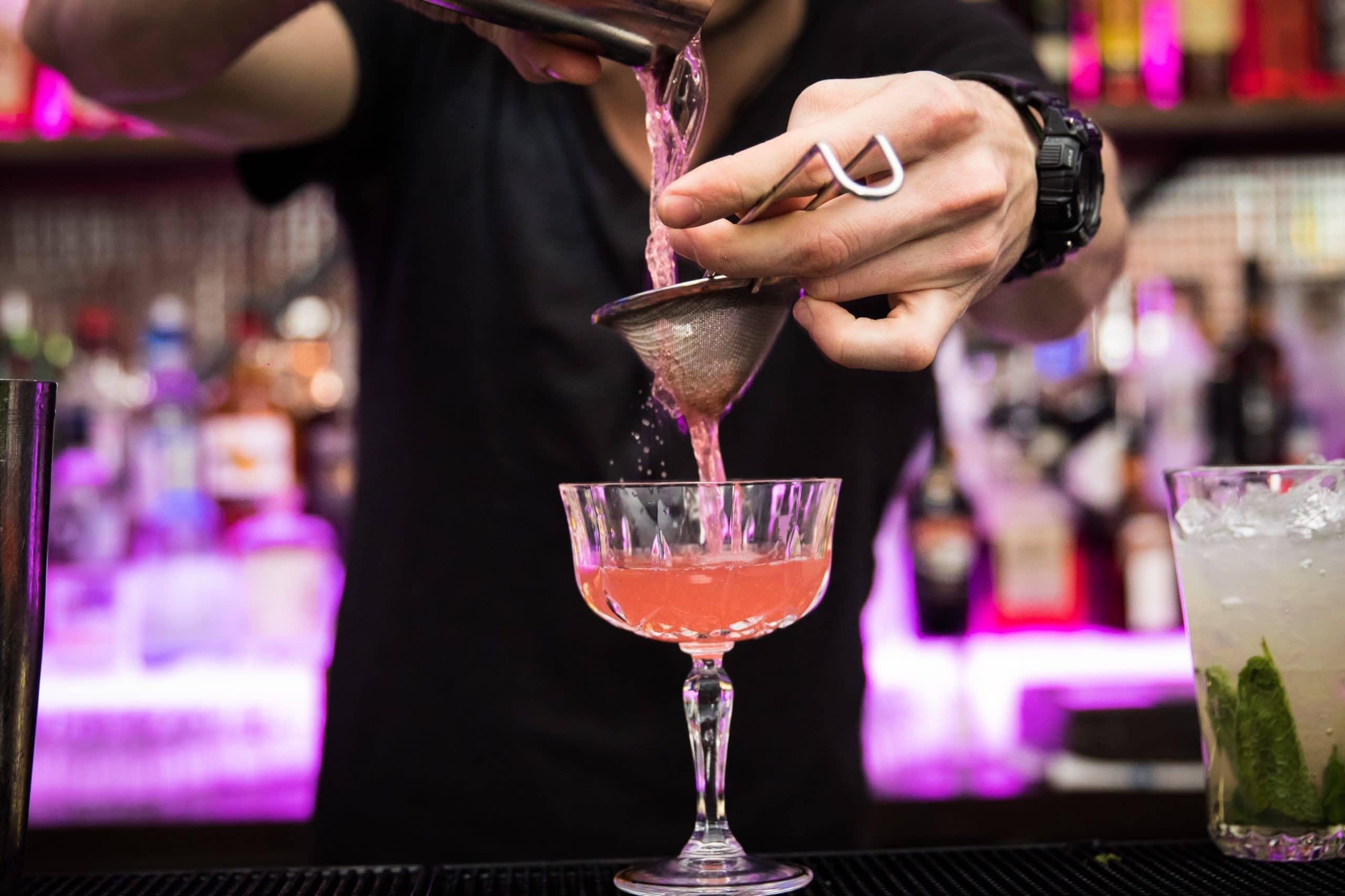 cocktail making at Sway bar